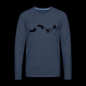 Baby Hand- und Fussabdruck Shirt - Männer Premium Langarmshirt