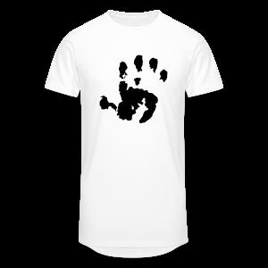 Baby Handabdruck Shirt - Männer Urban Longshirt