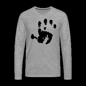 Baby Handabdruck Shirt - Männer Premium Langarmshirt
