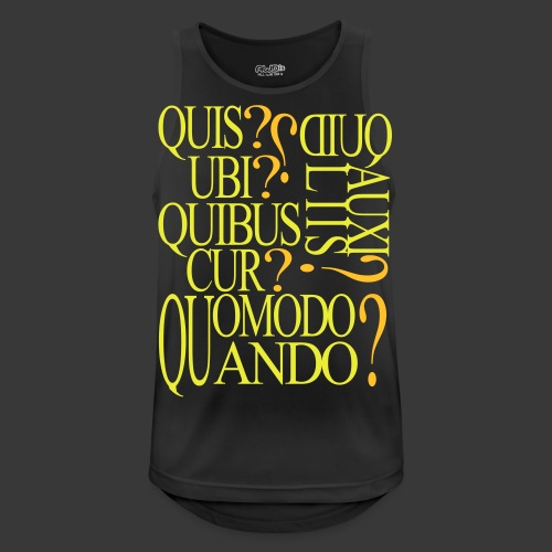 QUIS QUID UBI QUIBUS AUCILIIS CUR QUOMODO QUANDO - Men's Breathable Tank Top