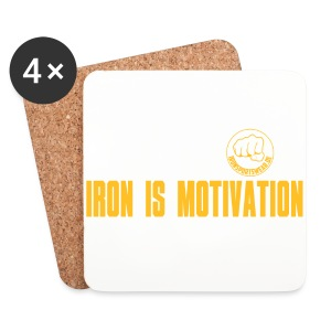IRON IS MOTIVATION - Untersetzer (4er-Set)