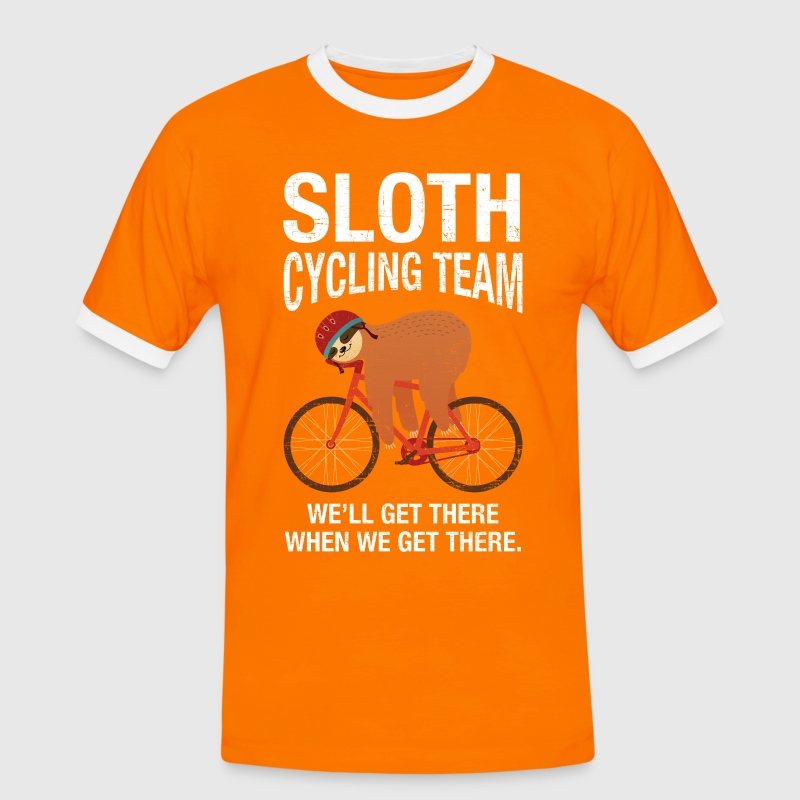 Sloth Cycling Team T-Shirts - Men's Ringer Shirt