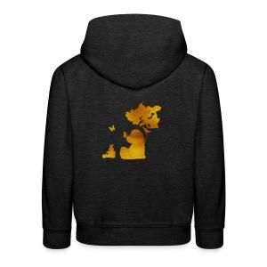 Gouden silhouet beer en auto