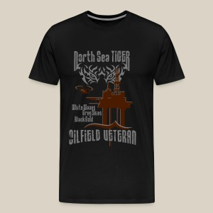North Sea Tiger Oil Field Veteran - Men's Premium T-Shirt