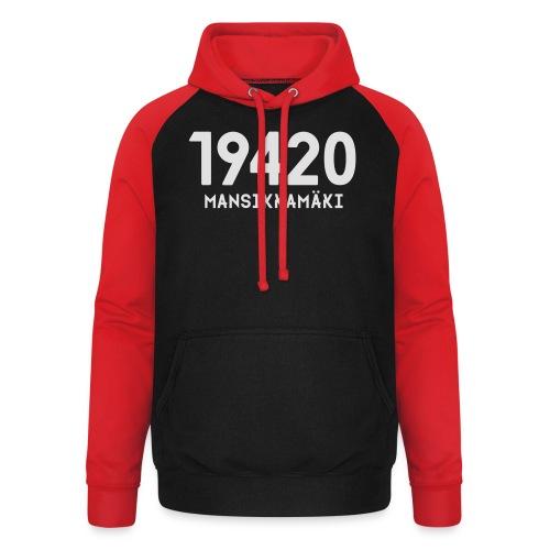 19420 MANSIKKAMÄKI - Unisex baseball-huppari