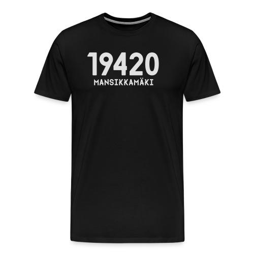 19420 MANSIKKAMÄKI - Miesten premium t-paita