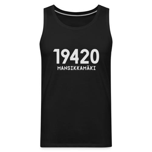 19420 MANSIKKAMÄKI - Miesten premium hihaton paita