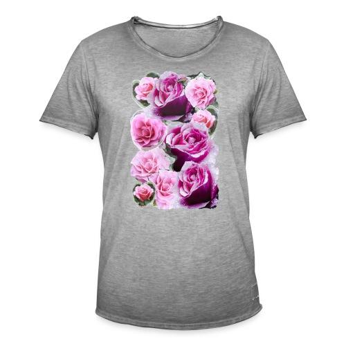 Rose-pink-Collage - Männer Vintage T-Shirt