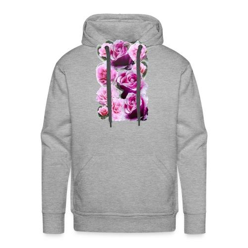 Rose-pink-Collage - Männer Premium Hoodie