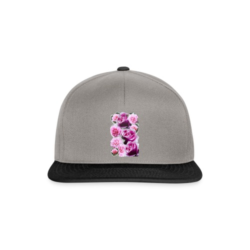 Rose-pink-Collage - Snapback Cap