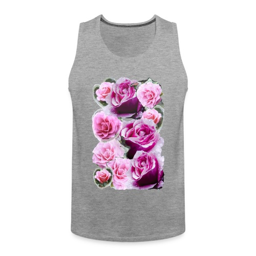 Rose-pink-Collage - Männer Premium Tank Top