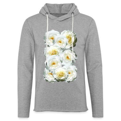 Rose-weiss-Collage - Leichtes Kapuzensweatshirt Unisex