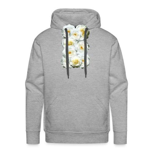 Rose-weiss-Collage - Männer Premium Hoodie