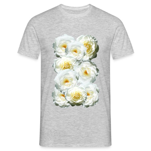 Rose-weiss-Collage - Männer T-Shirt