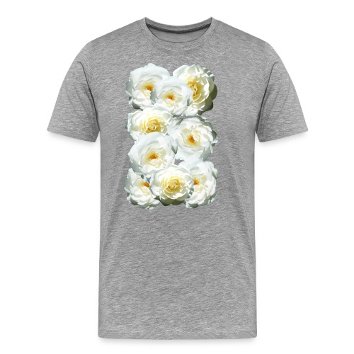Rose-weiss-Collage - Männer Premium T-Shirt