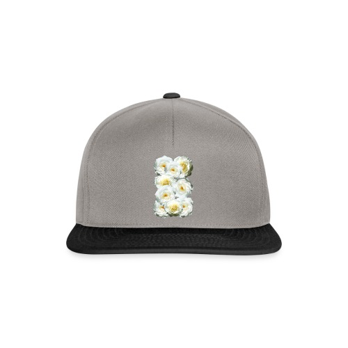 Rose-weiss-Collage - Snapback Cap
