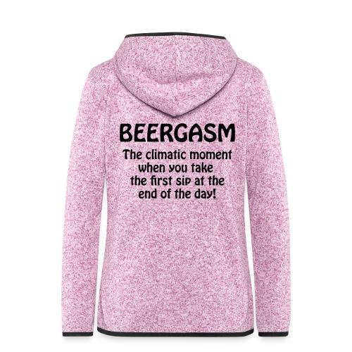 BEERGASM Beer Lover Beer Porn Hash House Harriers - Women's Hooded Fleece Jacket
