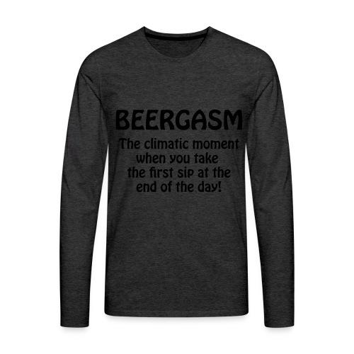 BEERGASM Beer Lover Beer Porn Hash House Harriers - Men's Premium Longsleeve Shirt