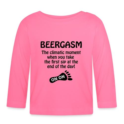BEERGASM Beer Lover Beer Porn #HashHouseHarriers - Baby Long Sleeve T-Shirt