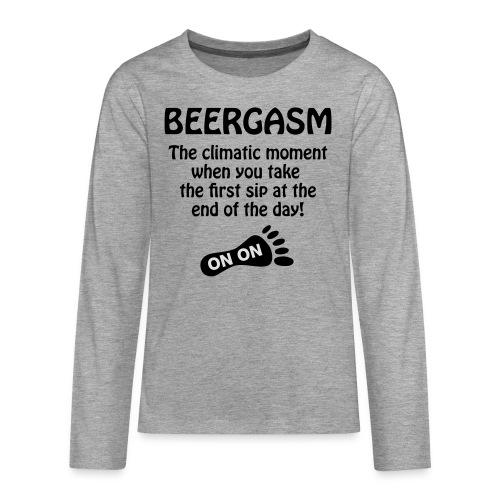 BEERGASM Beer Lover Beer Porn #HashHouseHarriers - Teenagers' Premium Longsleeve Shirt