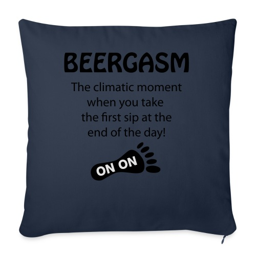 BEERGASM Beer Lover Beer Porn #HashHouseHarriers - Sofa pillow cover 44 x 44 cm