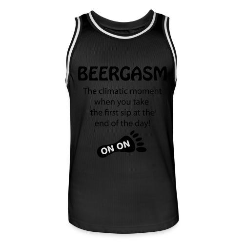BEERGASM Beer Lover Beer Porn #HashHouseHarriers - Men's Basketball Jersey