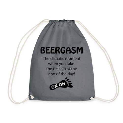 BEERGASM Beer Lover Beer Porn #HashHouseHarriers - Drawstring Bag