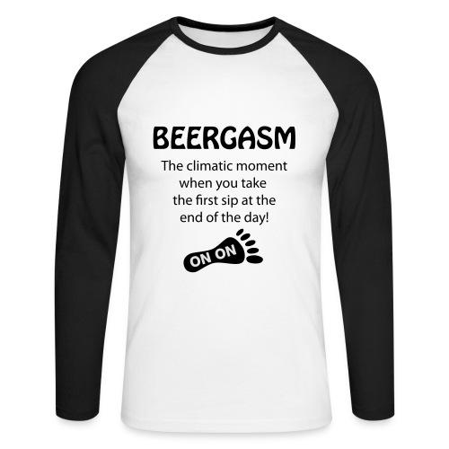 BEERGASM Beer Lover Beer Porn #HashHouseHarriers - Men's Long Sleeve Baseball T-Shirt