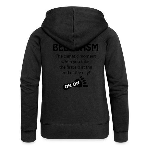 BEERGASM Beer Lover Beer Porn #HashHouseHarriers - Women's Premium Hooded Jacket