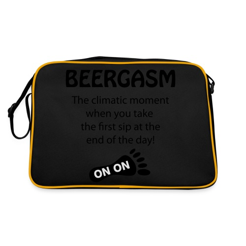 BEERGASM Beer Lover Beer Porn #HashHouseHarriers - Retro Bag