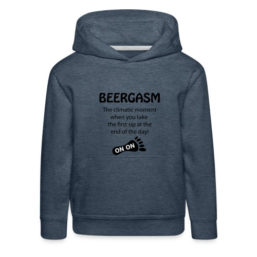 BEERGASM Beer Lover Beer Porn #HashHouseHarriers - Kids' Premium Hoodie