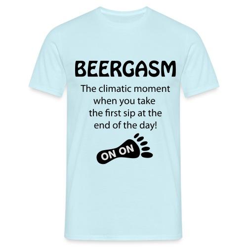 BEERGASM Beer Lover Beer Porn #HashHouseHarriers - Men's T-Shirt