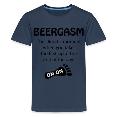 BEERGASM Beer Lover Beer Porn #HashHouseHarriers - Teenage Premium T-Shirt