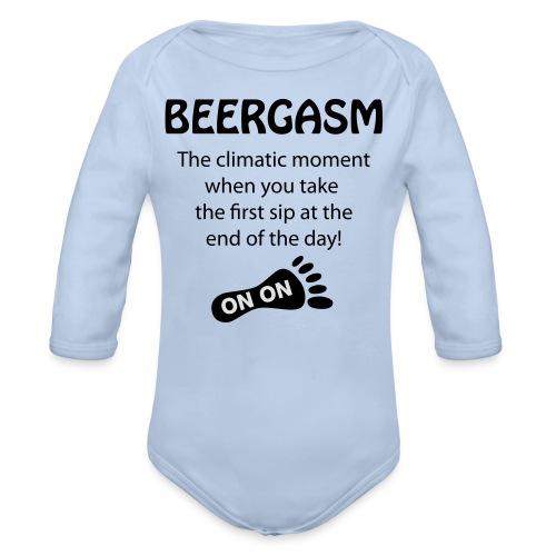 BEERGASM Beer Lover Beer Porn #HashHouseHarriers - Organic Longsleeve Baby Bodysuit