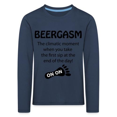 BEERGASM Beer Lover Beer Porn #HashHouseHarriers - Kids' Premium Longsleeve Shirt