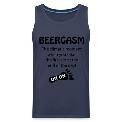 BEERGASM Beer Lover Beer Porn #HashHouseHarriers - Men's Premium Tank Top