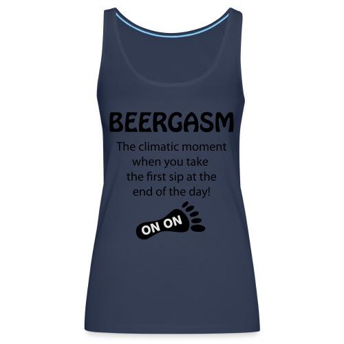 BEERGASM Beer Lover Beer Porn #HashHouseHarriers - Women's Premium Tank Top