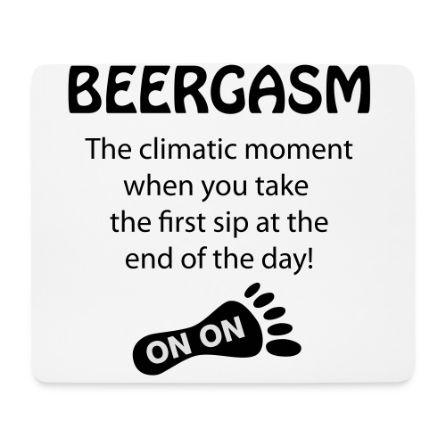BEERGASM Beer Lover Beer Porn #HashHouseHarriers - Mouse Pad (horizontal)
