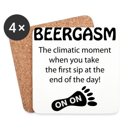 BEERGASM Beer Lover Beer Porn #HashHouseHarriers - Coasters (set of 4)