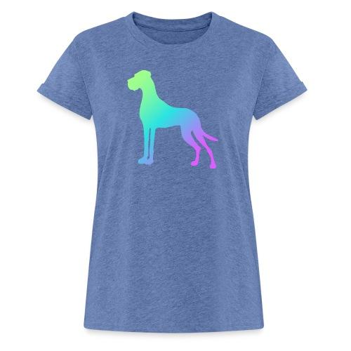 Grüne Dogge - Frauen Oversize T-Shirt