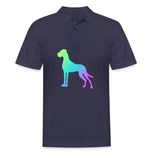 Grüne Dogge - Männer Poloshirt