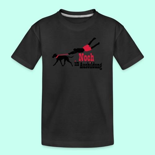 Lernender Hund - Teenager Premium Bio T-Shirt
