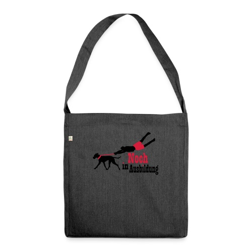 Lernender Hund - Schultertasche aus Recycling-Material