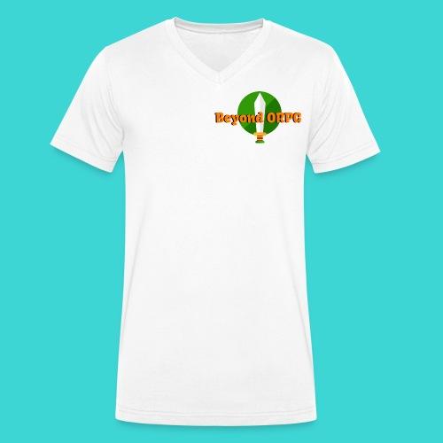 Beyond Logo Shirt - Men's Organic V-Neck T-Shirt by Stanley & Stella