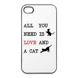 All you need is love and a cat mok - iPhone 4/4s hard case