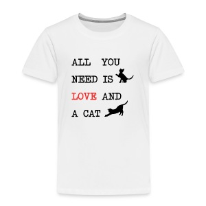 All you need is love and a cat mok - Kinderen Premium T-shirt