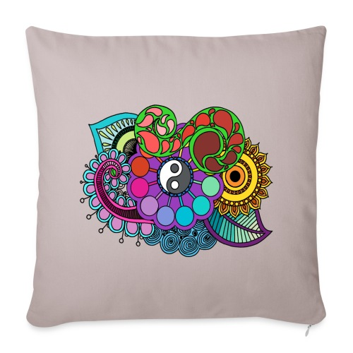 Colour Nature Mandala - Sofa pillow cover 44 x 44 cm