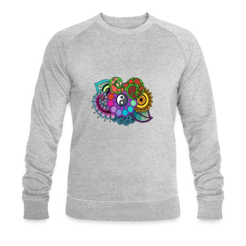 Colour Nature Mandala - Men's Organic Sweatshirt by Stanley & Stella
