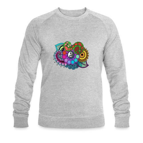 Colour Nature Mandala - Men's Organic Sweatshirt by Stanley & Stella