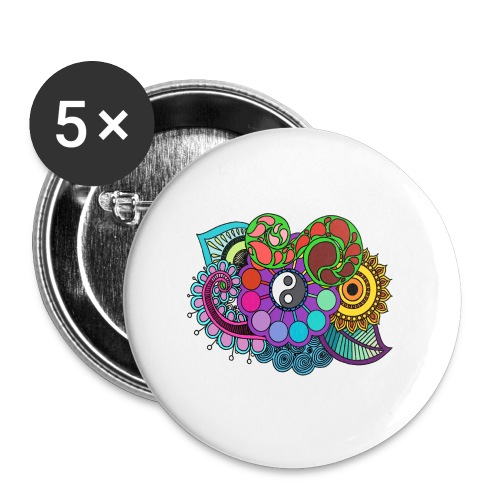 Colour Nature Mandala - Buttons large 2.2''/56 mm(5-pack)